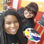 Artists Khadijah and Kelsey