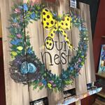 """Our Nest"" wood pallet"