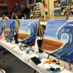 """Abstract Wave"" finger painting class!"