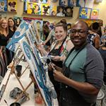 Twisters In Action! Paint and Sip Masters!!