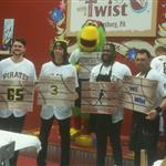 Pittsburgh Pirates  Josh Bell, Cole Tucker, and JT Brubaker