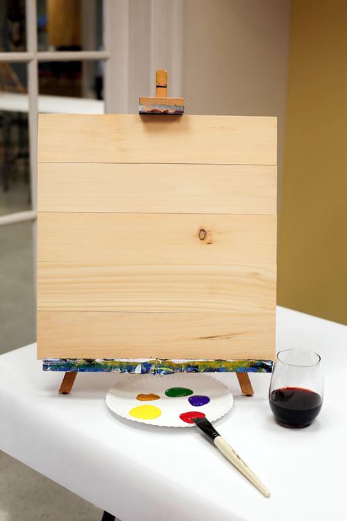 17.5x17 Wood Plank Board