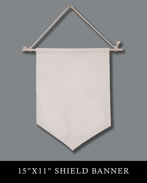 15x11 Natural Canvas Shield Banner