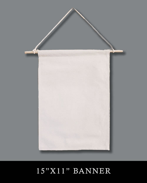 15x11 Natural Canvas Rectangle Banner
