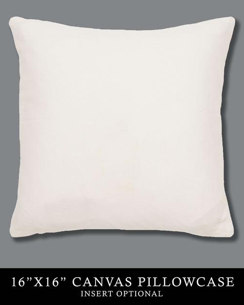 16x16 Natural Canvas Pillowcase